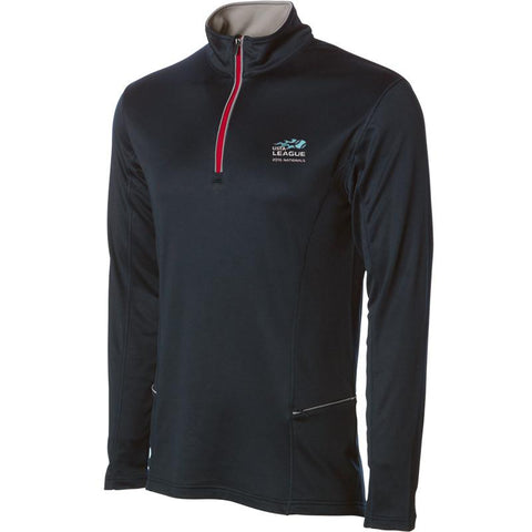 USTA LEAGUES 2016 National Championships Men's Black Poly-tech Quarter Zip Tech Pullover
