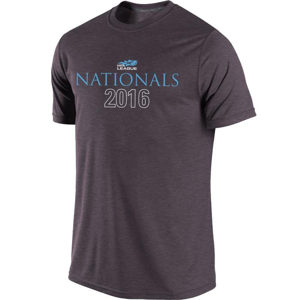 USTA LEAGUES 2016 National Championships Men's Grey Short Sleeve Cotton Tee
