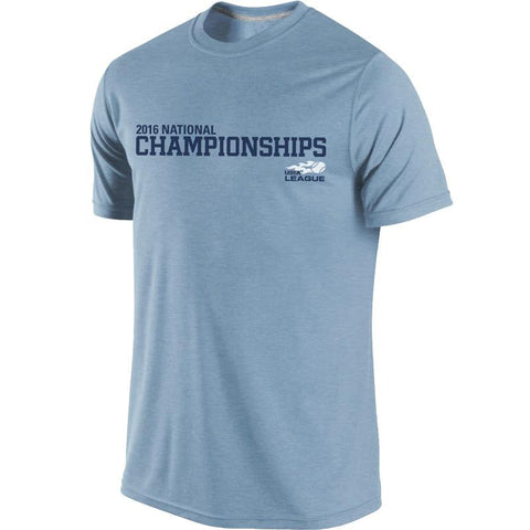 USTA LEAGUES 2016 National Championships Men's Heather Slate Short Sleeve Cotton Tee