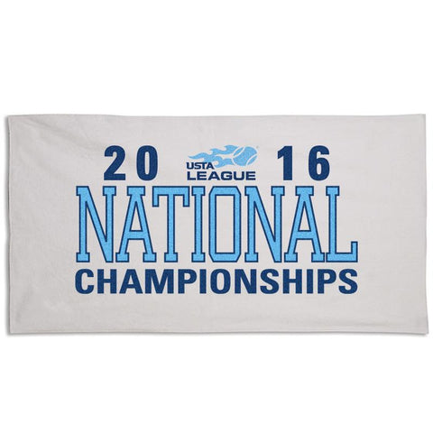 USTA LEAGUES 2016 National Championships White End Court Towel
