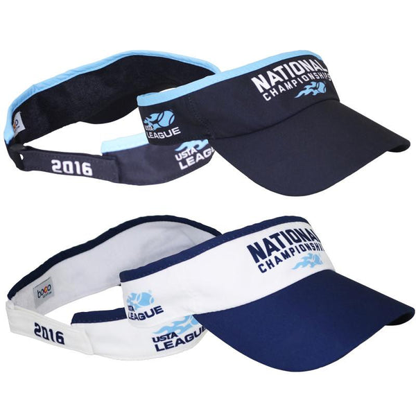 USTA LEAGUES 2016 National Championships White and Black Visors