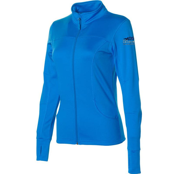 USTA LEAGUES 2016 National Championships Women's Aster Blue Lightweight Full-Zip Poly-Tech Jacket