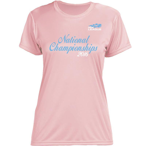 USTA LEAGUES 2016 National Championships Women's Pink Short Sleeve Performance Tee
