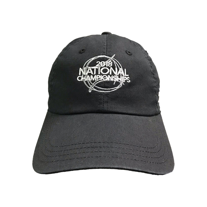 5fbbbfc5822b91 USTA Leagues 2018 National Championships American Needle Black Adult Slouch  Semi Structured Lightweight Baseball Cap ...