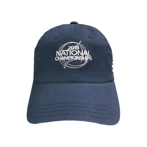 USTA Leagues 2018 National Championships American Needle Navy Adult Slouch Semi Structured Lightweight Baseball Cap