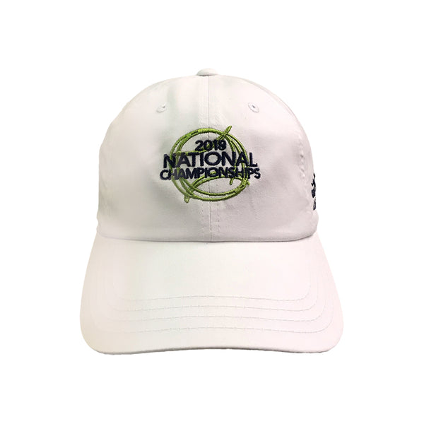 USTA Leagues 2018 National Championships American Needle White Adult Slouch Semi Structured Lightweight Baseball Cap
