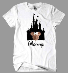 Mommy Disney Castle Minnie Mouse T-Shirt