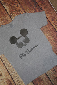Big Brother Disney Mickey Trip Shirt Mickey with Glasses
