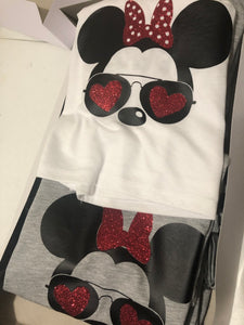 Minnie Mouse Heart Glasses | Get in loser we are going drinking around the world ladies Crop Tanktops