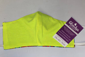 Neon Yellow Reusable Mask