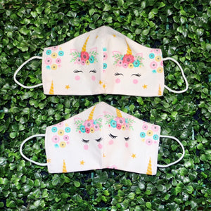 Unicorn Face Reusable Mask