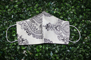 Damask Design Reusable Mask