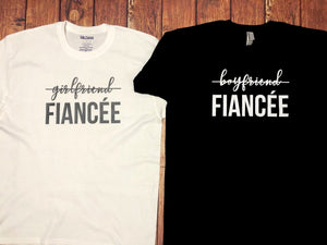 From Boyfriend/Girlfriend to Fiancé | Couple Engagement T-shirts