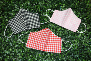 Pink Houndstooth Reusable Face Mask