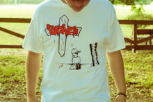 Load image into Gallery viewer, Forgiven Graffiti Design White T-shirt