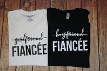 Load image into Gallery viewer, From Boyfriend/Girlfriend to Fiancé | Couple Engagement T-shirts