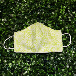 Green Flower Design Reusable Mask