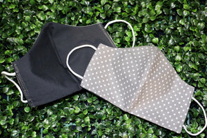 Grey Polka Dot Reusable Mask