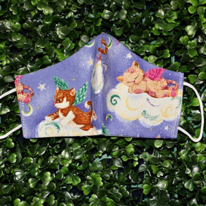 Kitties on the Clouds Reusable Mask