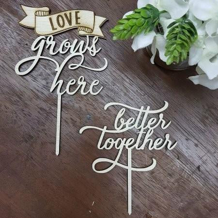 Cake Topper - Love Grows Here