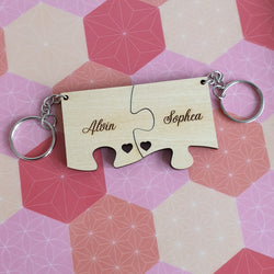 Valentine's Day - Personalised Jigsaw Keychain