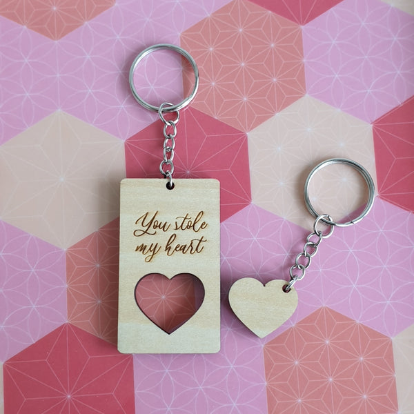 Valentine's Day - You stole my heart Keychain