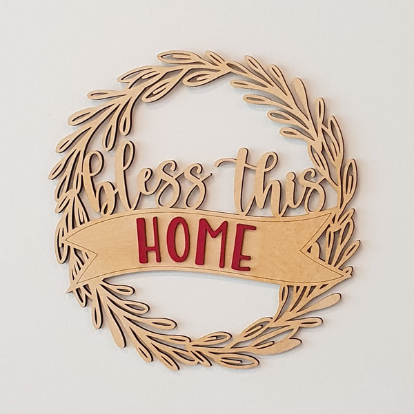 Bless this Home Multilayer Decorative Plaque