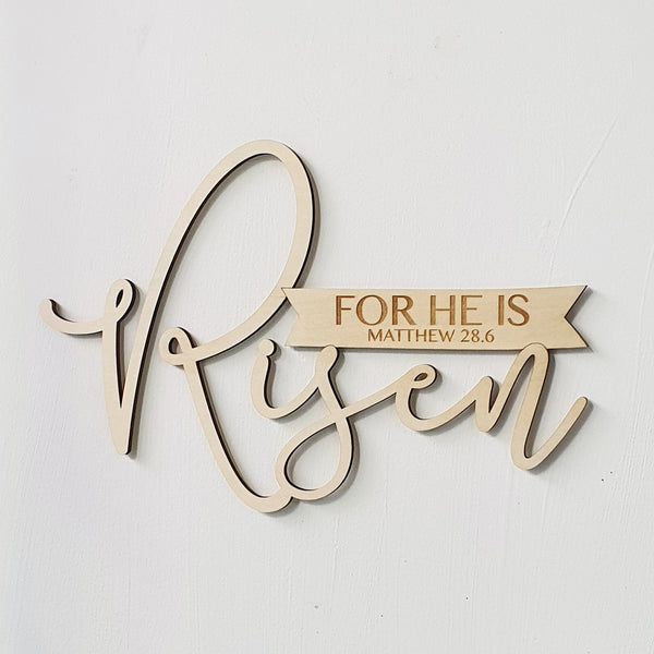 For He is Risen Easter Decorative Plaque