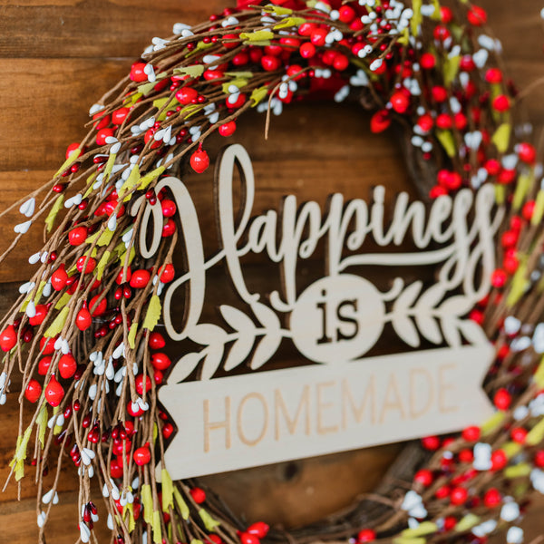 Mistletoe Loop with Family Plaque - Red White