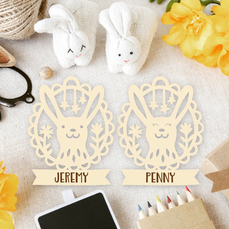 6 x Personalised Easter Ornaments