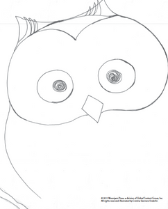 Printable: Owl coloring page