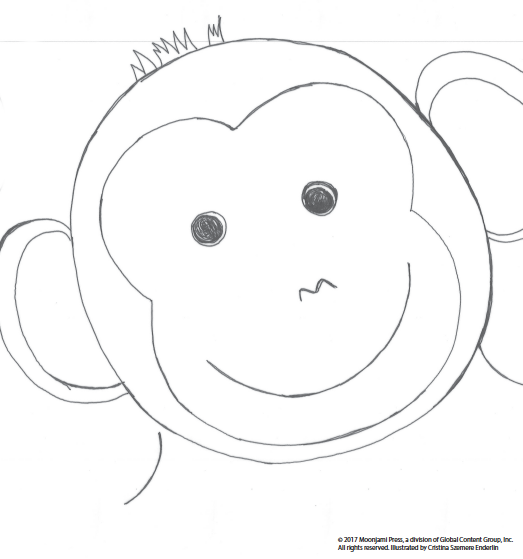 Printable: Chimpanzee coloring page