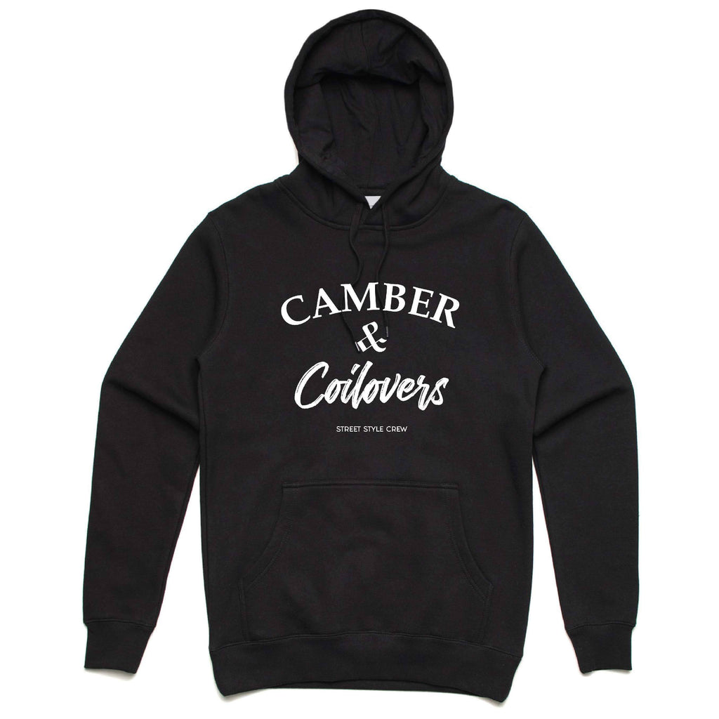 Street Style Crew Camber & Coilovers Black Premium Hoodie