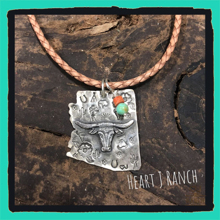 Arizona Longhorn Pendant - Necklace