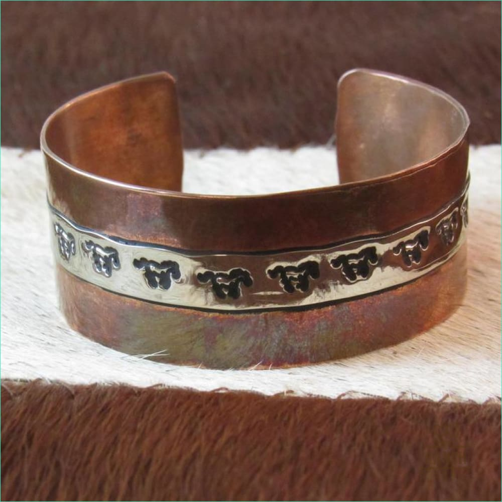 Copper/Sterling Bracelet Native Made