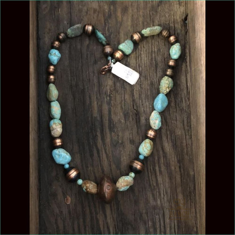 Heart J Beaded Necklace