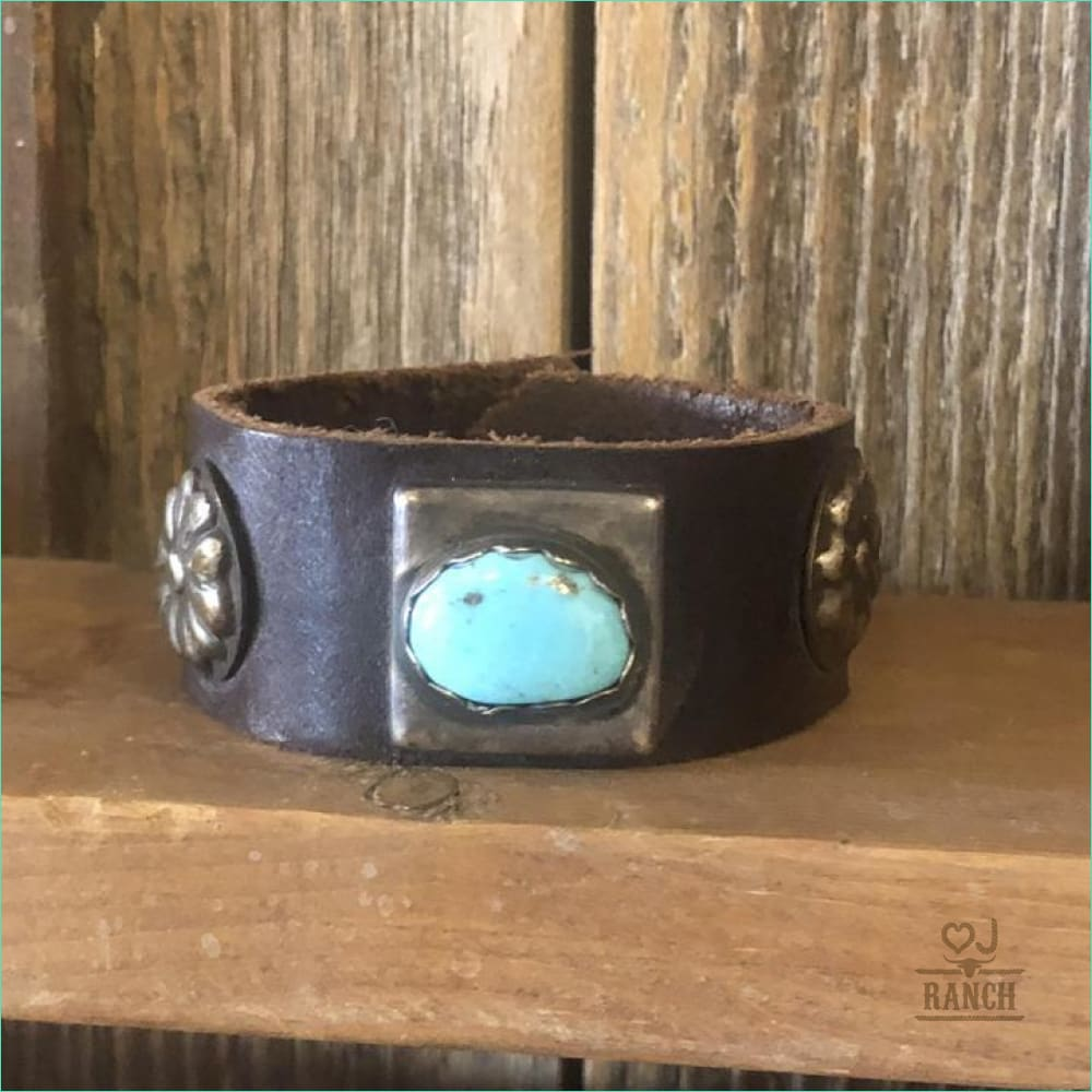Heart J Sterling/Turquoise 7 Cuff