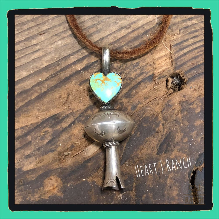 Heart Squash Blossom Pendant - Medium 1 - Necklaces