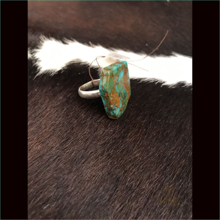 Silver Ring With Turquoise Stone 1050 - Ring