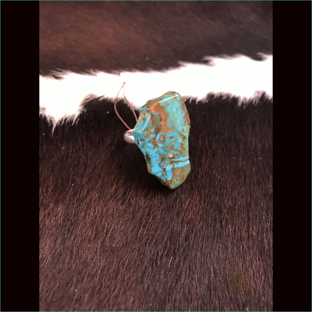 Silver Ring With Turquoise Stone - Ring