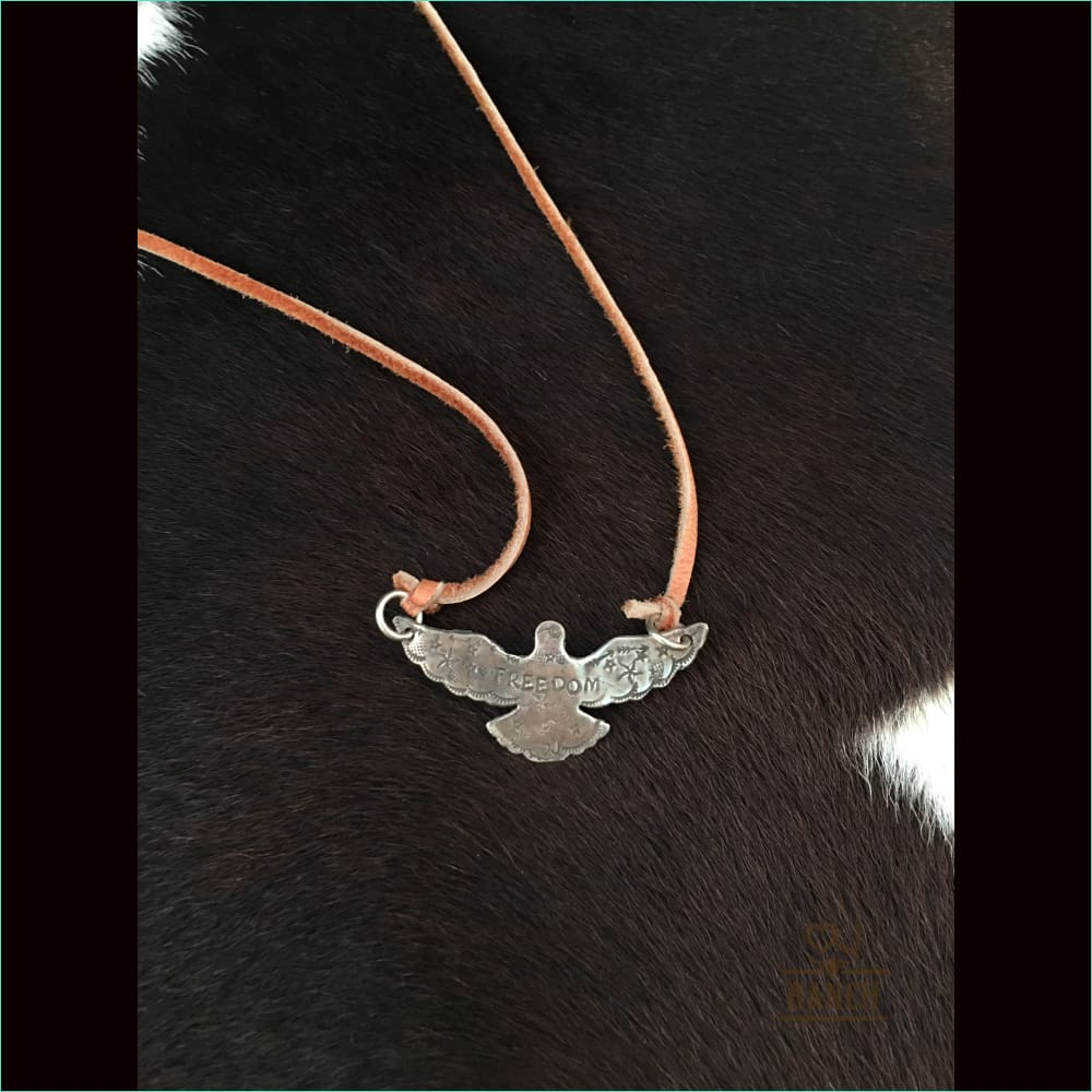 Sterling Bird Freedom - Necklace
