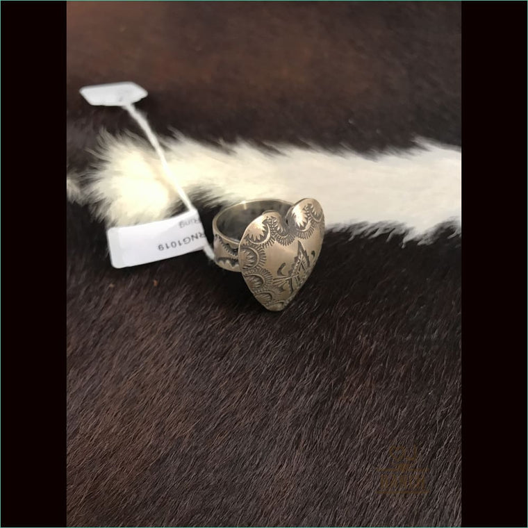 Sterling Silver Concho Ring 2 - Ring