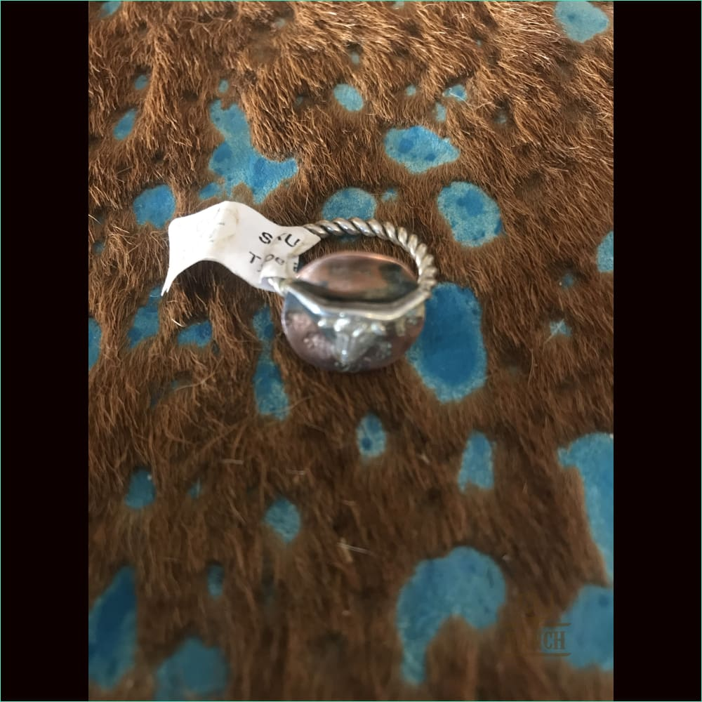 Sterling Silver / Copper Long Horn - Ring
