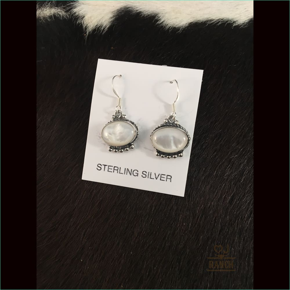 Sterling Silver Pearl Hook Earrings - Earrings