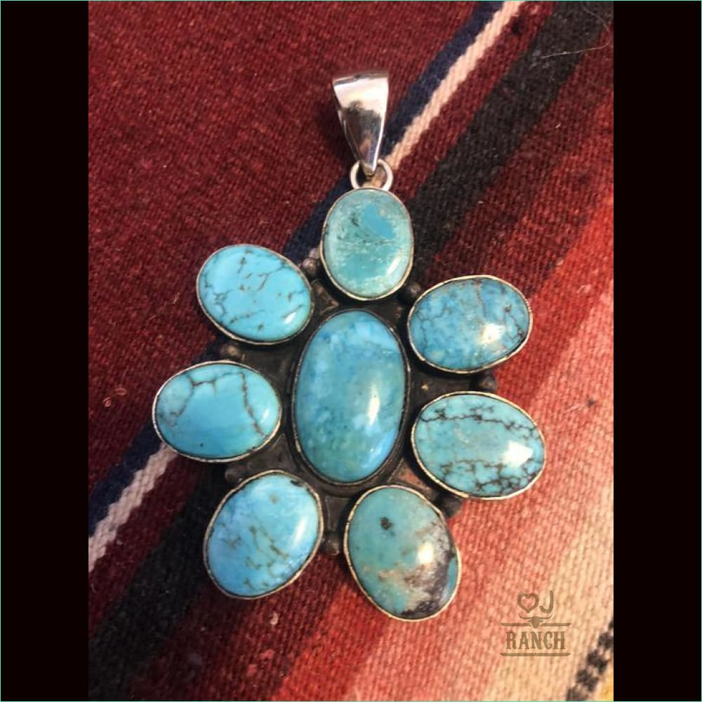 Turquoise Cluster Pendant - 21110