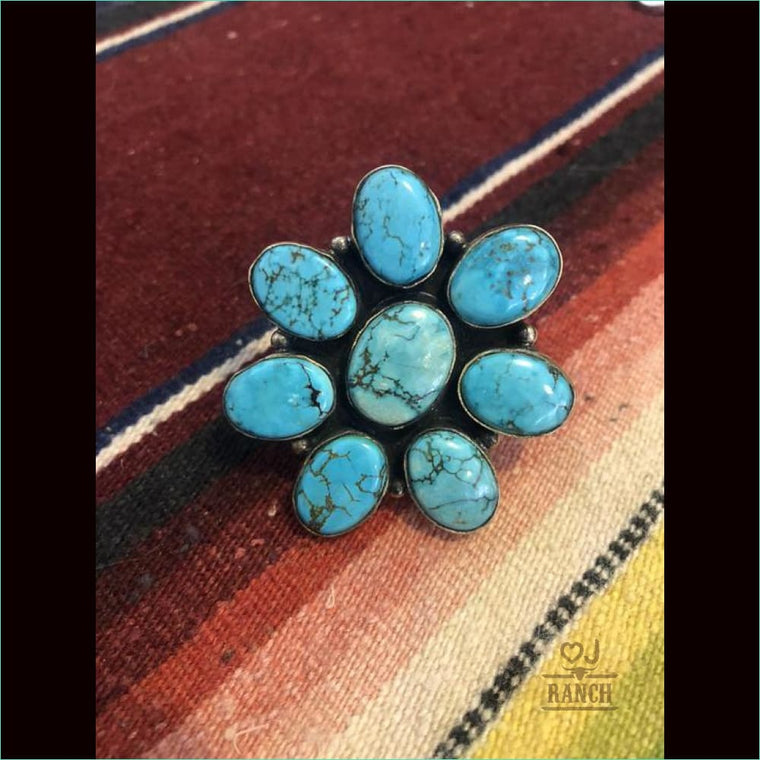 Turquoise Cluster Ring - 21109
