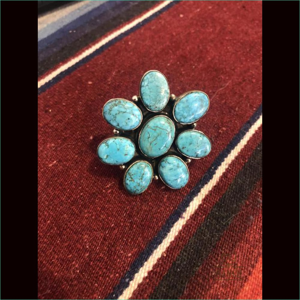 Turquoise Cluster Ring - 21121