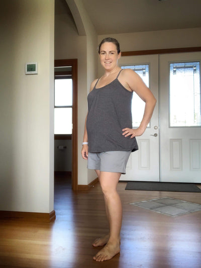 Maverick Maternity Shorts- Grey - New Genes Maternity Wear