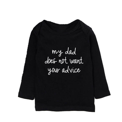 Dad Advice Toddler Long sleeve - New Genes Maternity Wear