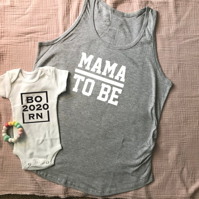 Mama to be Tank-Grey - New Genes Maternity Wear